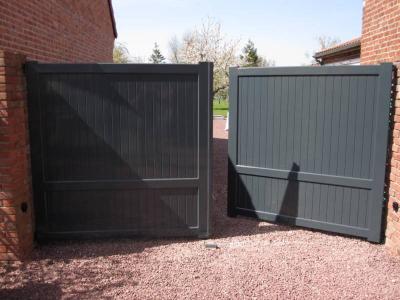 Exemples de portails aluminiums