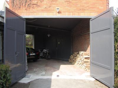 Porte de garage aluminium portail et cl ture - Porte garage battant alu ...
