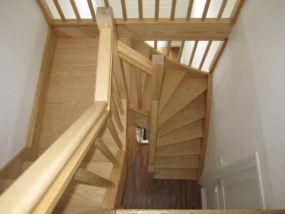 Escalier bois 2 quarts tournant sur mesure