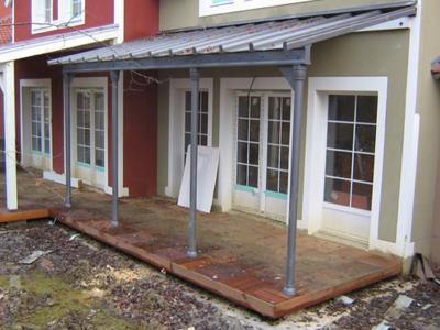 Auvent vitré pour habitation