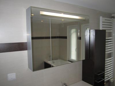salle de bains équipée d'une grande douche