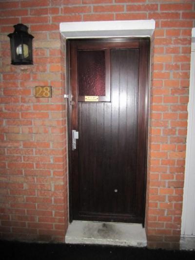Porte d'entrée TOTEM monobloc avant .... après ...