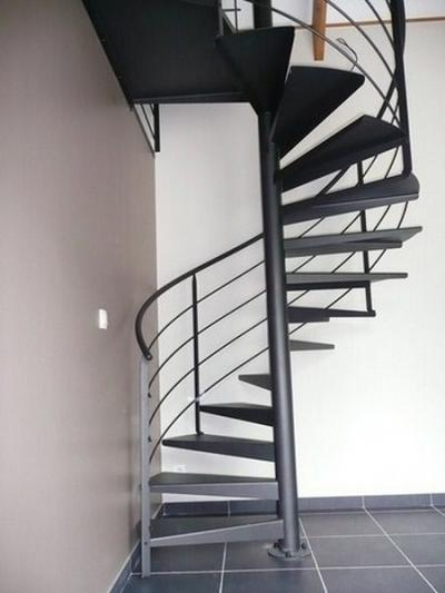 Escaliers métalliques intérieurs