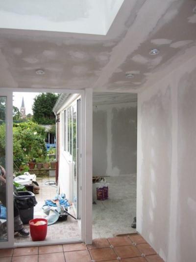 Aménagement intérieur d'une extension