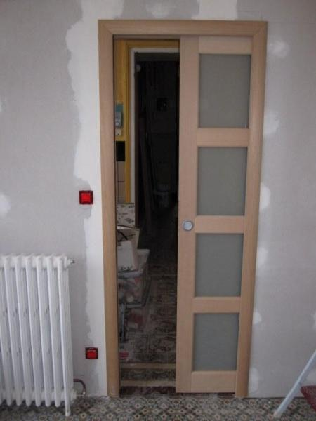 Porte en bois galandage r novation porte int rieure - Renovation de porte interieure ...