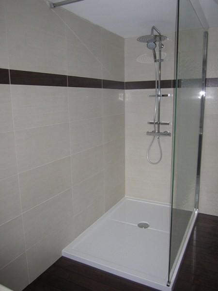 Salle de bains quip e d 39 une grande douche plomberie for Douche salle de bain